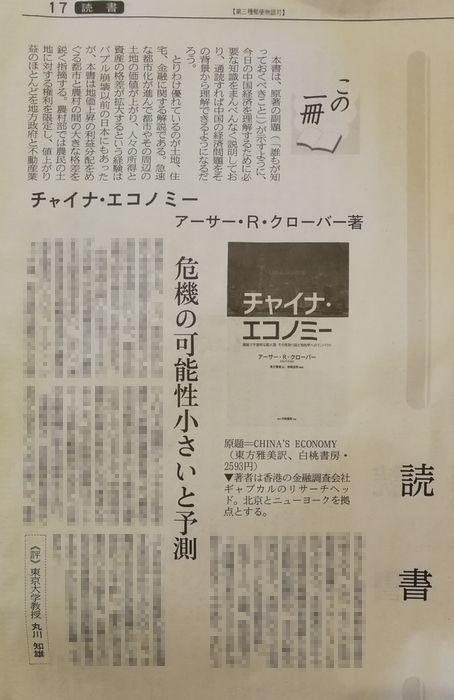 日経読書欄丸川先生